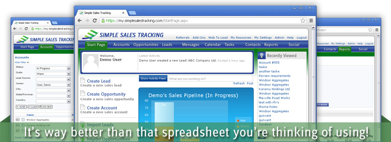 Sales Tracking Application Simple Sales Tracking