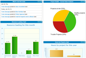 Screenshot #1 of Easy Projects (Executive Dashboard)