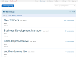 Screenshot #4 of Recruiterbox (Openings View)
