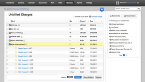 Screenshot #1 of WORK[etc] CRM (Billing, payment tracking and integration with Xero & Quickbooks)