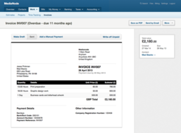 Screenshot #4 of FreeAgent (Invoices in FreeAgent)